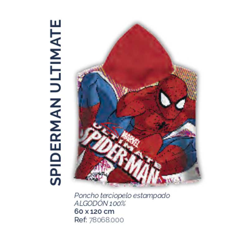 Albornoz Poncho Spiderman Ultimate Stilia