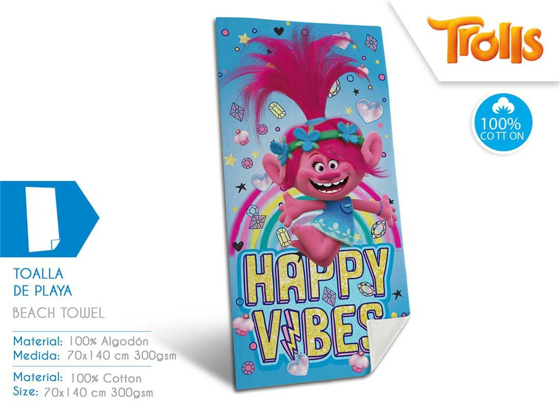 Toalla Playa Trolls Kids Licensing